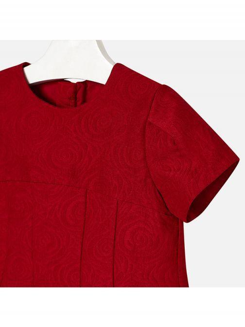 Mayoral Red Jacquard Dress