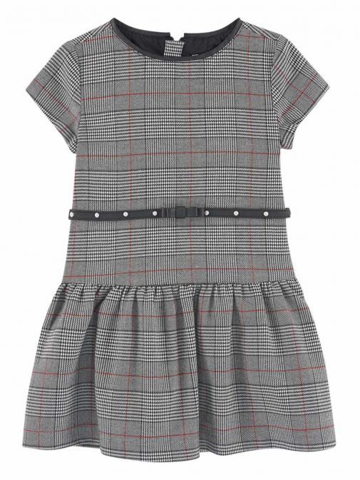 Mayoral Grey & Red Checked Dress 4958 81