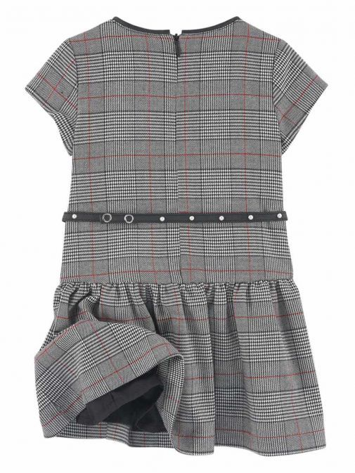 Mayoral Grey & Red Checked Dress