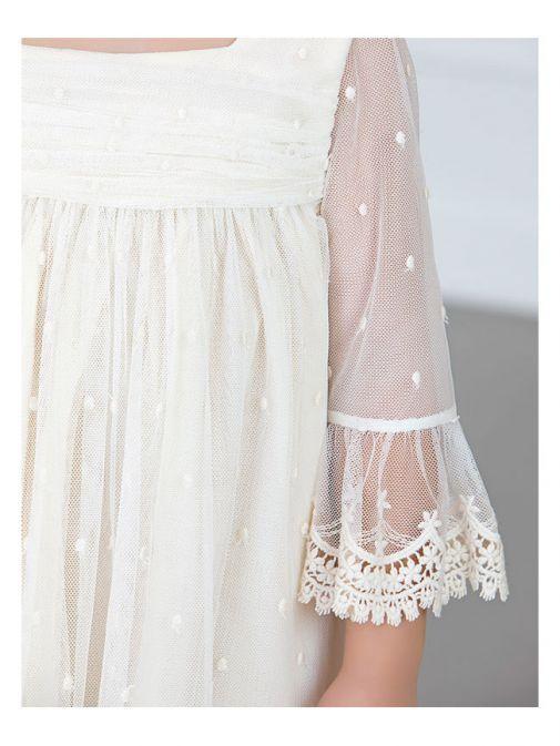 Abel & Lula Crudo Lace Trimmed Dress