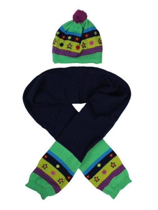 Tuc Tuc Green Navy Hat & Scarf Set 50498 VERDE
