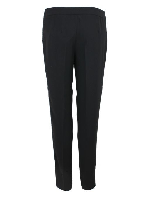 Emme By Marella Black Sequin Detail Trousers 51362699 AGUS