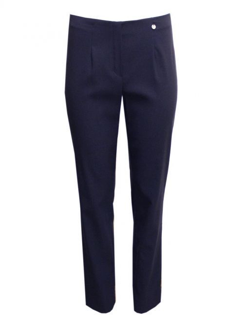 Robell Navy Slim Fit Trousers (Style: Marie) 51412/5499/69-Navy