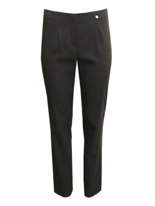 Robell Black Slim Fit Trousers (Style. Marie) 51412/5499/90-Black