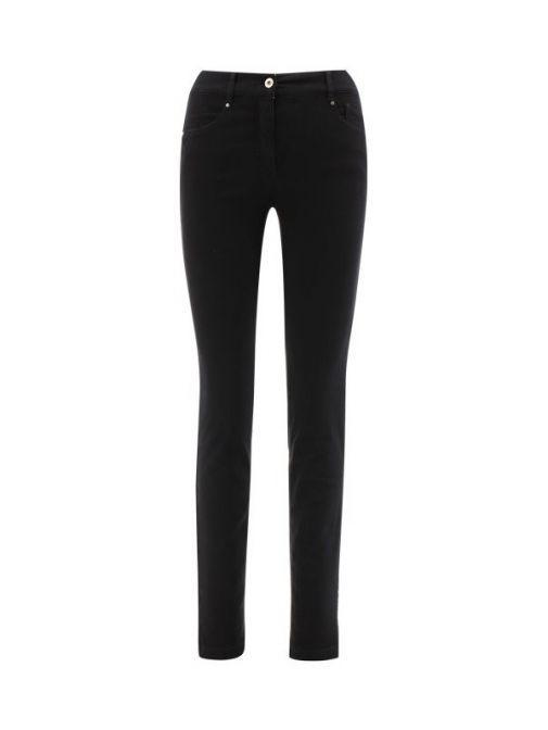 Robell Black Slim Fit Jeans (Style: Elena) 51455/5448/90-Black