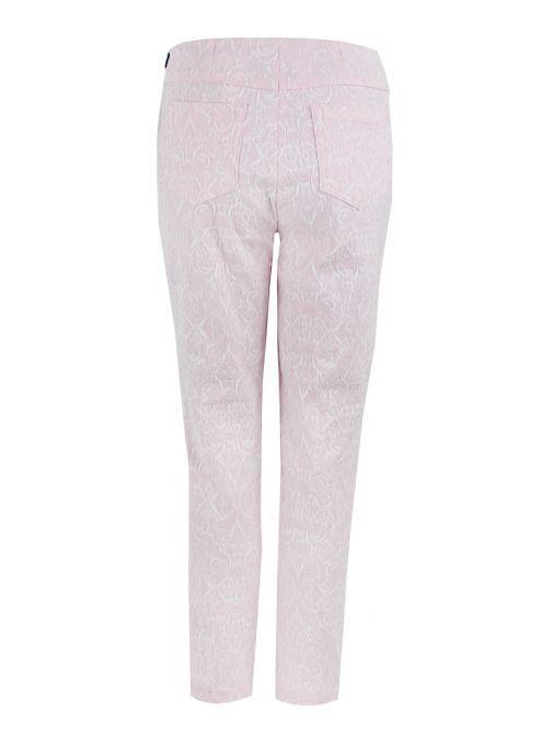 Robell Pastel Pink Filigree Jacquard Trouser (Bella 09) 51560/54564/41