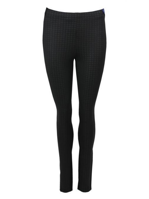 Robell Black Patterned Leggings (Style: Colette)