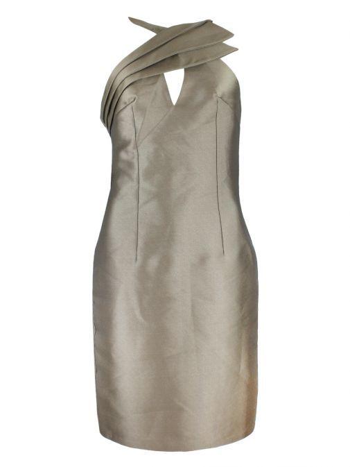 Red & Royal Bronze Halter Neck Dress 5274 BRONZE