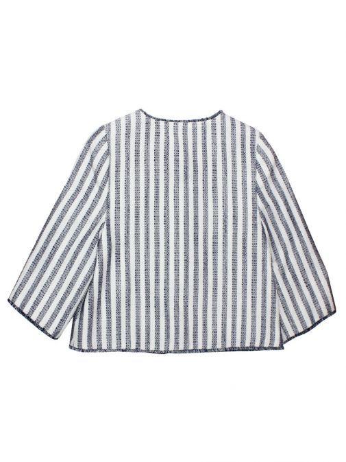 Abel & Lula Navy And White Stripe Glitter Jacket