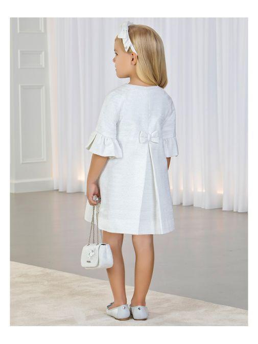 Abel & Lula White Glitter Detail Dress Coat