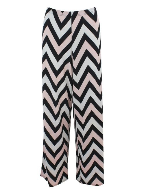 Marble Blush, White & Black Zig Zag Trousers 5358 120