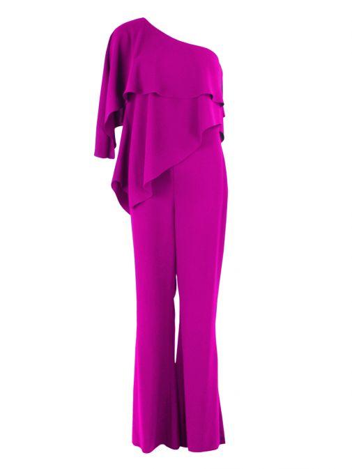 Red & Royal Pink One Shoulder Jumpsuit 5395 PINK