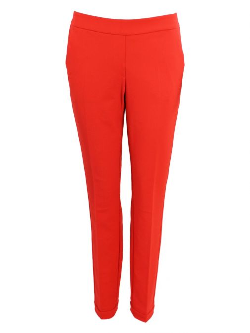 Betty Barclay Red Crepe Trousers