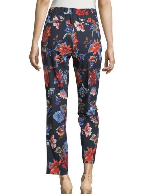 Betty Barclay Navy/Multi Floral Print Trousers