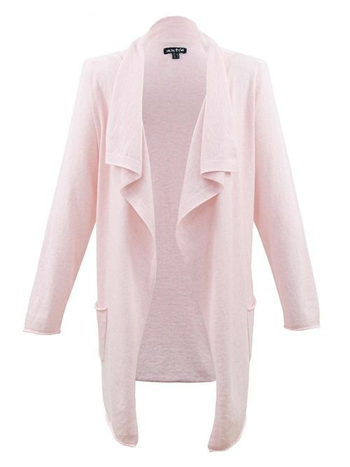Marble Cashmere Blend Pink Waterfall Cardigan 5476 120