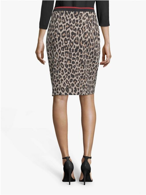 Betty Barclay Brown Leopard Print Pencil Skirt