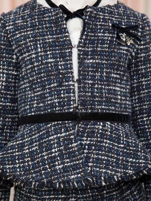 Abel & Lula Navy Tweed Shimmer Jacket