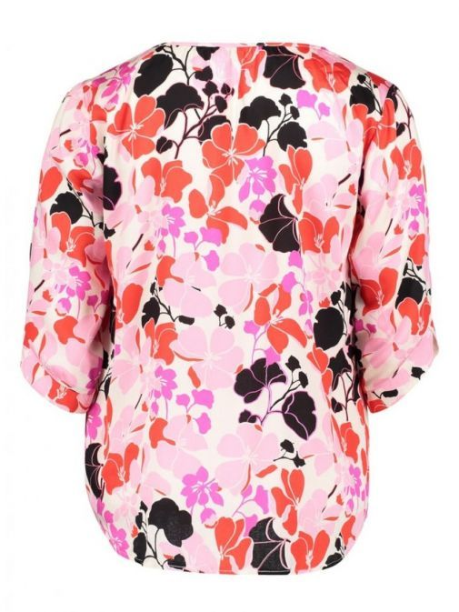 Betty Barclay Pink Floral 3/4 Sleeve Blouse