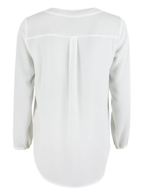 Betty Barclay Off-White Dipped Hem Blouse