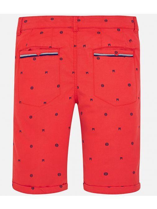 Mayoral Boys Red Twill Shorts