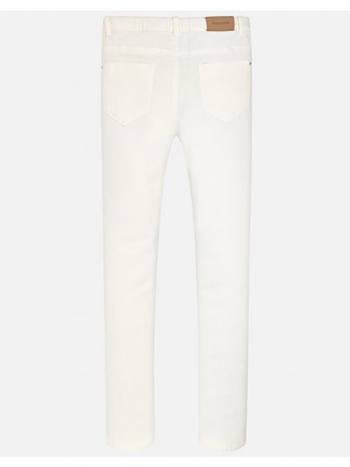 Mayoral Ivory Ripped Detailed Jeans