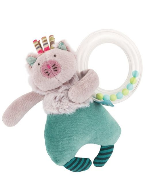Moulin Roty Les Pachats Rattle Ball Activity Cat 660031