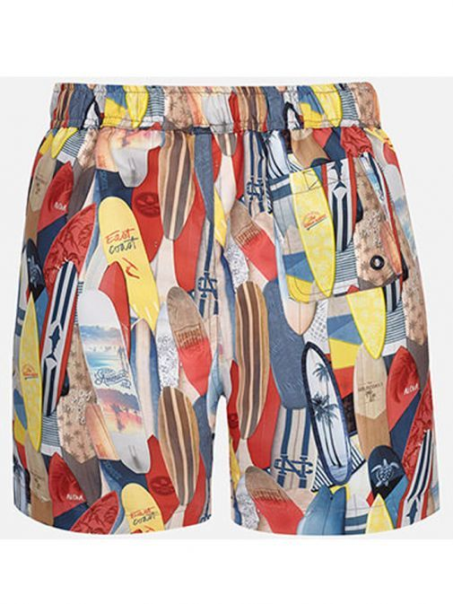 Mayoral Multicoloured Pattern Swim Shorts