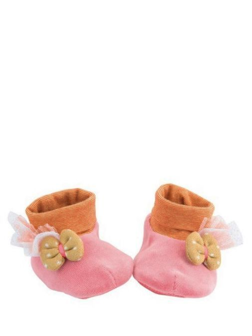 Moulin Roty Pink Les Tartempois Baby Slippers 662010