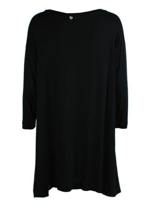 Mat Black & Silver Long Sleeve Top