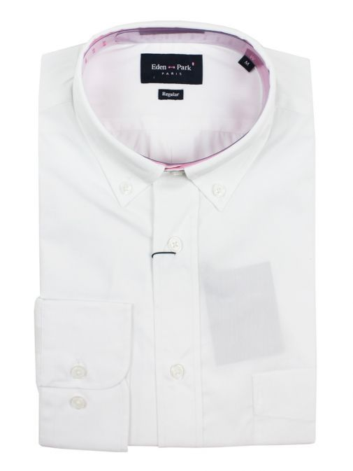 68CHECLE0044 Eden Park White Button Down Shirt