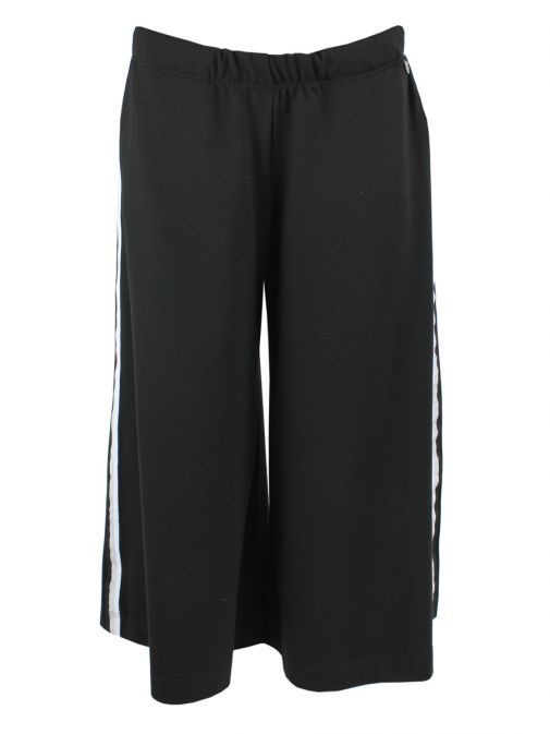 Mat Black Striped Panelled Culottes 691.2078 BLACK