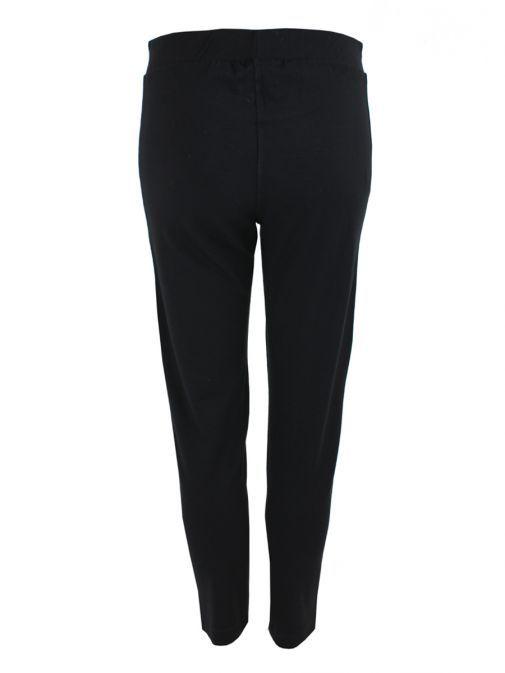 Mat Black Stretch Jersey Pants