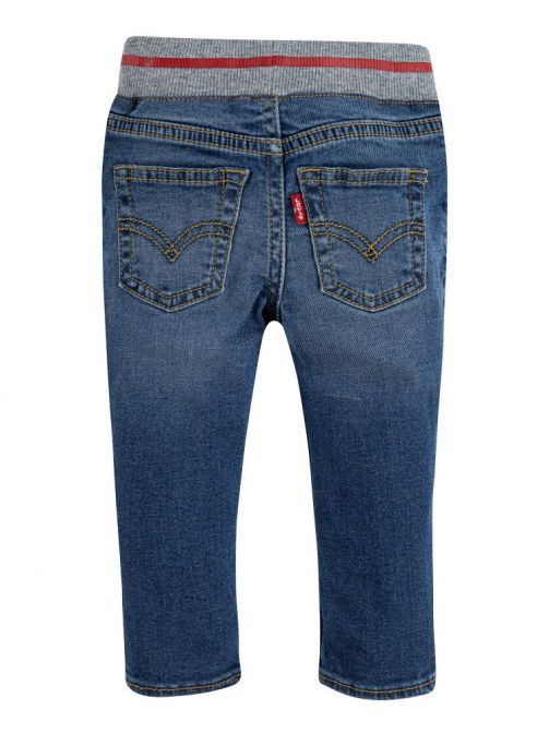 back shot of the Levi's Baby Skinny Sketch Jeans Denim featuring elasticated waist band and pockets
