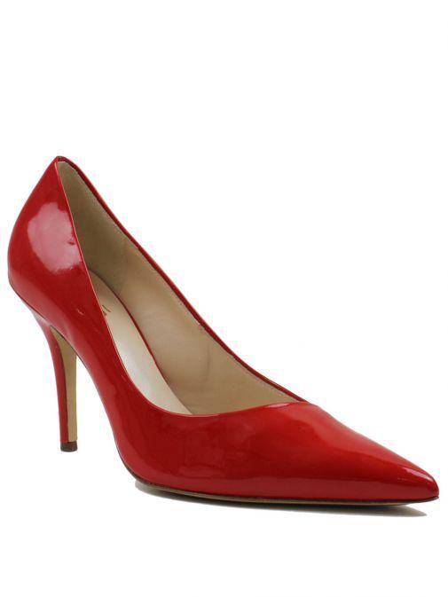 Hogl Scarlet Red Pointed Toe Patent Heels 7-10 9004 SCARLET