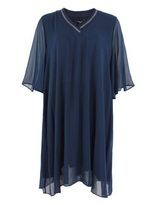 Mat Blue Layered Chiffon Tunic Dress 701.7068 BLUE/BLUE