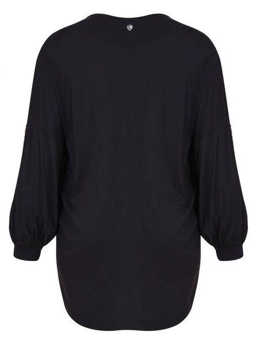 Mat Black Velvet Pattern Top