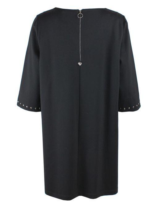 Mat Black Studded Tunic Dress