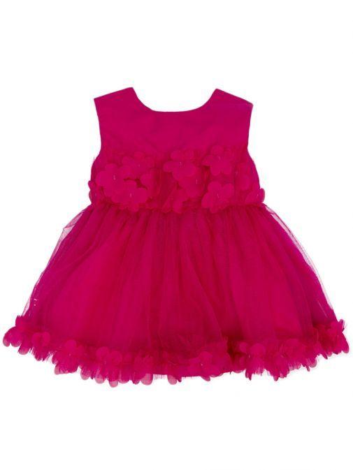 Agatha Ruiz De La Prada Fuchsia Sleeveless Tulle Dress 7021S19 FUCHSIA