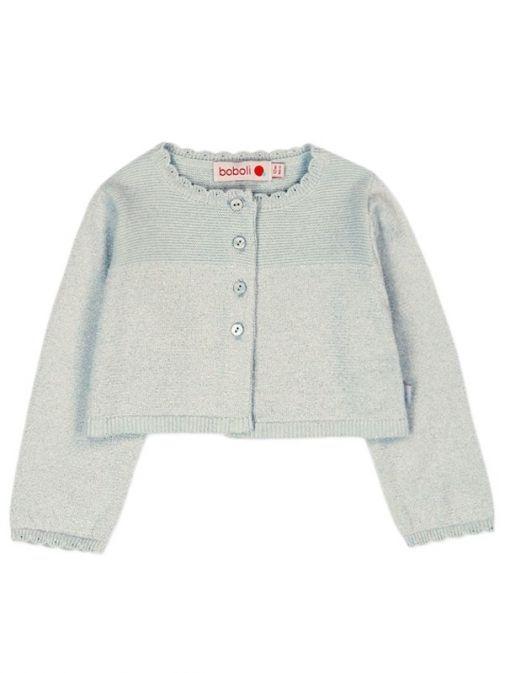 Boboli Silver Knitted Bolero Cardigan