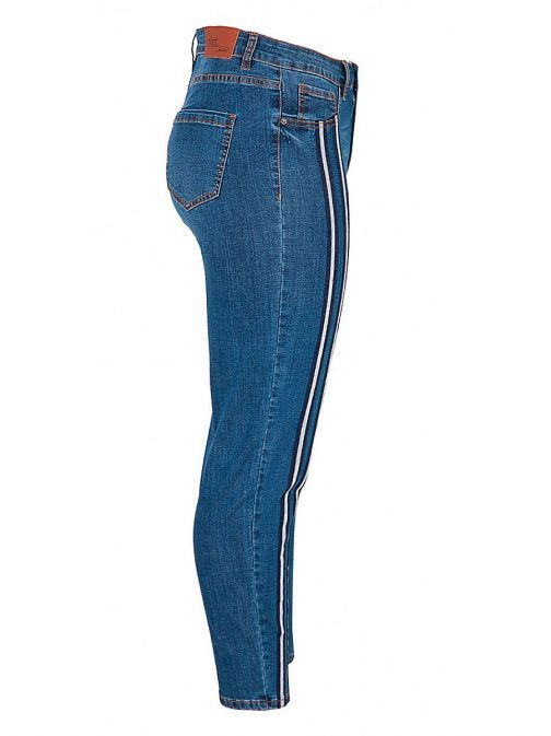 Mat Blue Denim Slim Fit Jeans