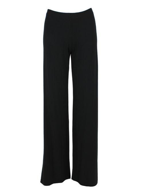 Mat Black Wide-Leg Trousers 708.2506 BLACK