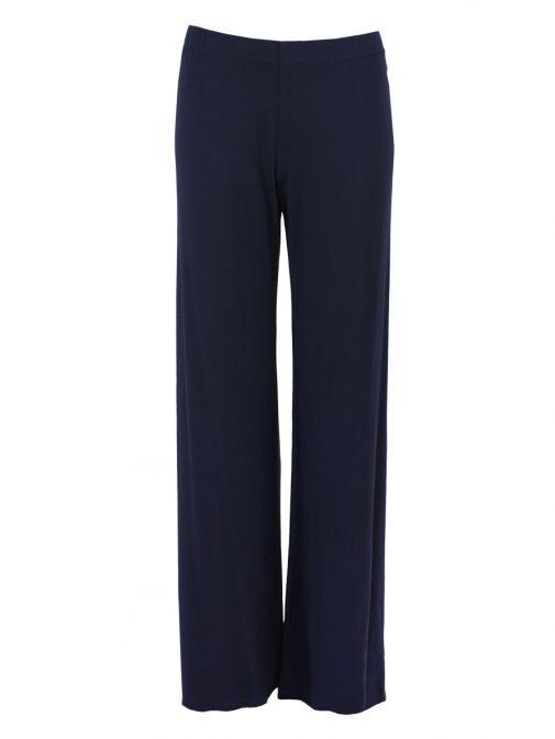 Mat Navy Wide-Leg Trousers 708.2506 BLUE