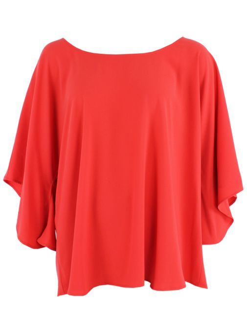 Mat Red Bell Sleeve Top 711.1053.R RED