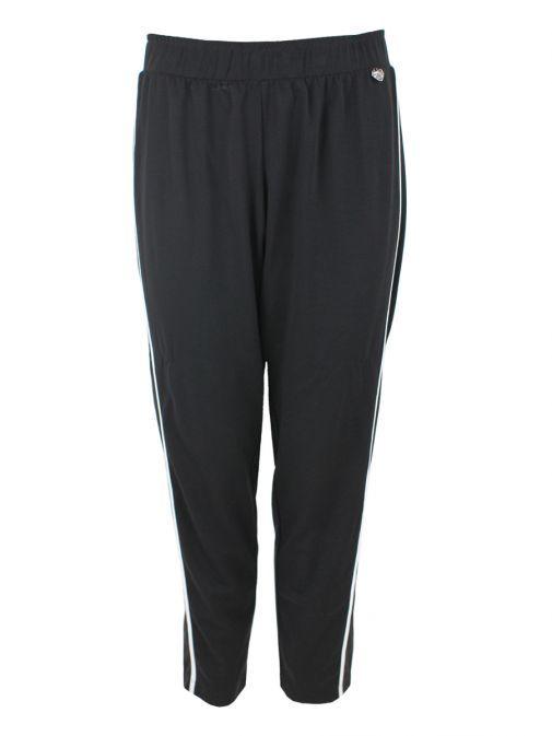 Mat Black Striped Trouser 711.2034.M.R. BLACK