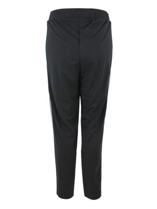 Mat Black Striped Trouser