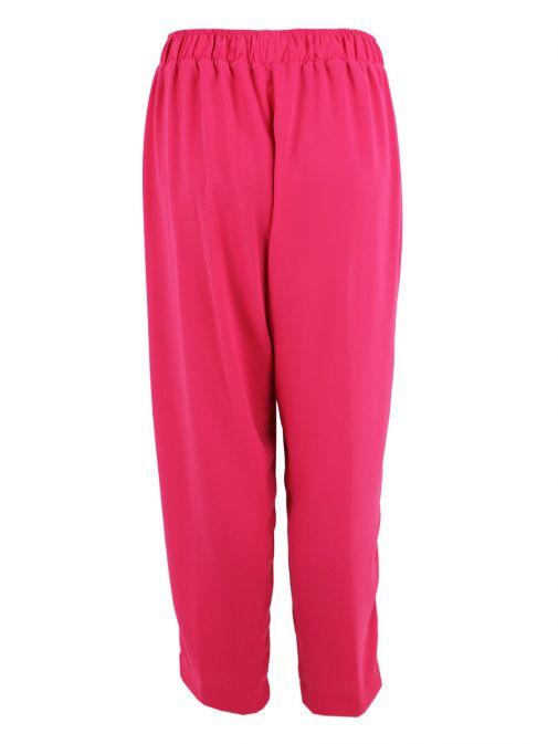 Mat Fuchsia Straight Trousers