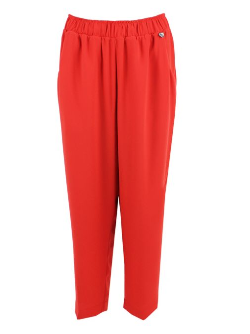 Mat Red Straight Leg Trousers 711.2067.R RED