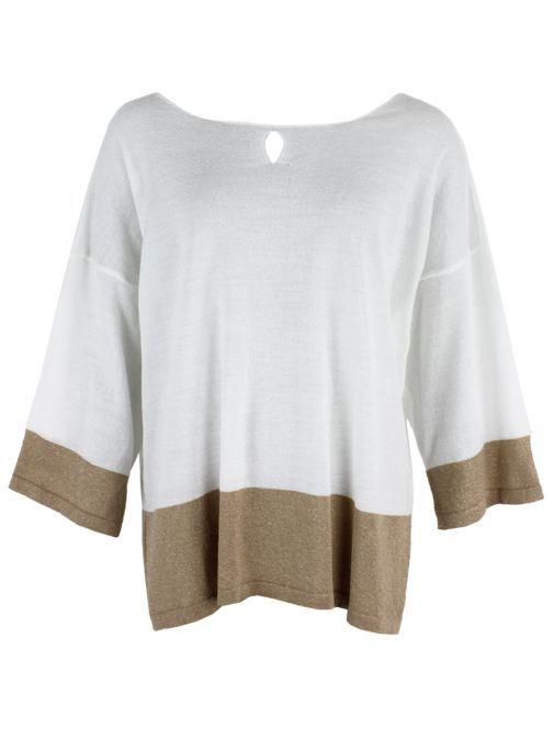 Mat White & Gold Knit Jumper 711.5026 GOLD WHITE
