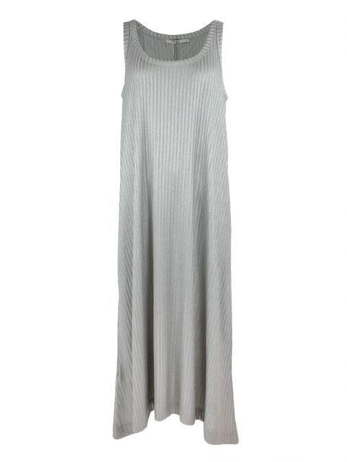 Mat Silver Maxi Jersey Dress 711.7047.M.R SILVER