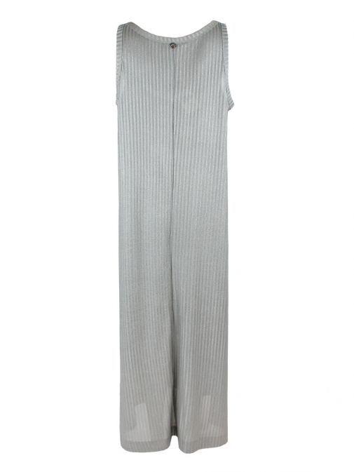 Mat Silver Maxi Jersey Dress